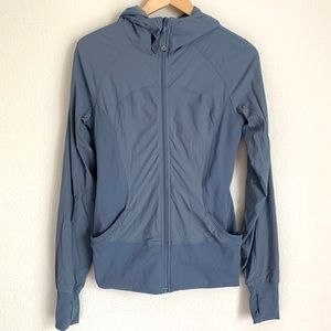 Lululemon athletica blue full zip hooded jacket